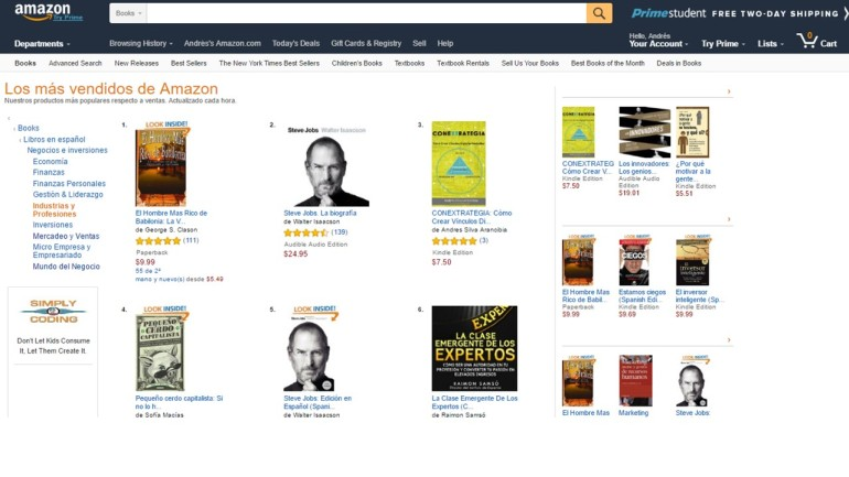 Conextrategia Best Sellers 2016